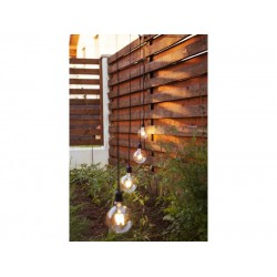 Lichterkette 15M Mit Pendellänge 1M und 15 LED-Lampen E27, 4W, Verbindbar 150M, für Außen