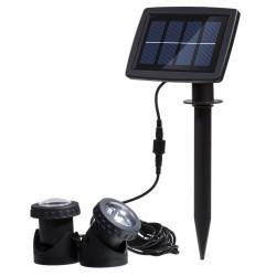 2 LED Solar Unterwasser Flutlichter für Außen mit 6 LEDs, IP65 Wasserdicht