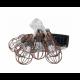 Solar Lichterkette 4M mit 10 Vintage Birnen, Durchsichtig Kabel, Warm Licht, für Außen