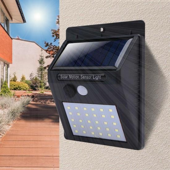 LED Solarlampe mit 30 LEDs mit Bewegungssensor, für Wandmontage