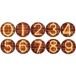 LED Nummer Licht Buchstaben von Kunststoff, mit Batterien und USB