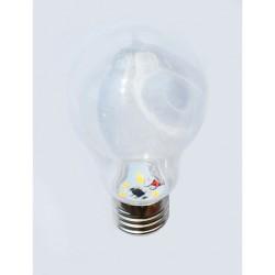 Leuchtmittel LED-Birne A60, E27, 1.5W, Kunststoff, Dimmbar, Warm Licht, für Außen