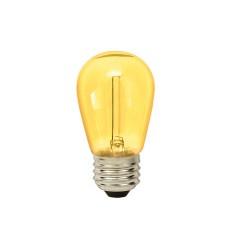Gelb Transparent LED Birne S14, E27, 1W, Kunststoff, Warm Licht 2200K, für Außen