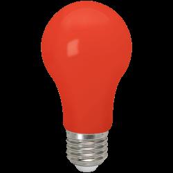 Rot LED Birne A60, E27, 3W, Kunststoff, Rot Licht, für Außen
