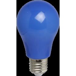 Blau LED Birne A60, E27, 3W, Kunststoff, Blau Licht, für Außen