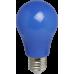 LED Birne, Kunststoff, A60, E27, 3W = 28W, Blau Licht 30000h, für Außen
