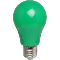 LED Birne, Kunststoff, A60, E27, 3W = 28W, Grün Licht 30000h, für Außen