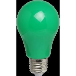 Grün LED Birne A60, E27, 3W, Kunststoff, Grün Licht, für Außen