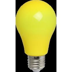 Gelb LED Birne A60, E27, 3W, Kunststoff, Gelb Licht, für Außen