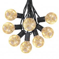Lichterkette 4M mit 25 Klar Lampen mit Mini-LEDs E12, Schwarzes Kabel, Warm Licht, Nicht verbindbar, für Außen