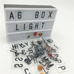 Magnetisch Leuchtkasten A6 mit 90 Buchstaben, Batteriebetrieben
