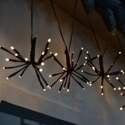 Lichterkette 2M mit 100 Mini-LEDs Feuerwerk, Schwarzes Kabel, Warm Licht, für Außen