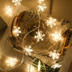 Dekorative Lichterkette 20M mit 200 Sternen-LEDs, Warm Licht, Verbindbar 80M, Für Außen
