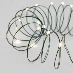 Kupferdraht Lichterkette 30M mit 300 LEDs, Grün Kupfer mit Transformator, Warm Licht, für Außen