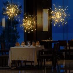 Hängend Feuerwerk Lichterkette 3,3M mit 500 LEDs, Silberdraht, Warm Licht, für Außen