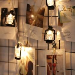 Lichterkette 4M mit 30 Laternen LEDs, Durchsichtig Kabel, Warm Licht, mit Batteriebetrieb