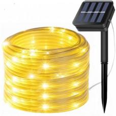 Solar Lichtschlauch Lichterkette 10M mit 100 LEDs, Warm Licht, für Außen