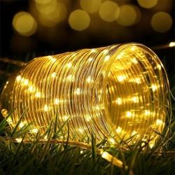 Dekorative Röhrenlicht Schlauch 20M mit 200 LEDs, Strombetrieben, Warm Licht, für Außen
