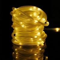 Solar Lichtschlauch Lichterkette 5M mit 50 LEDs, 2 Modi Röhrenlicht, Warm Licht, für Außen