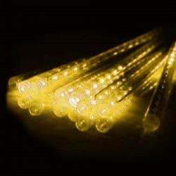 Solarlichterkette 2,5M mit 8 Eiszapfen Tuben mit 288 LEDs, Warm Licht, für Außen