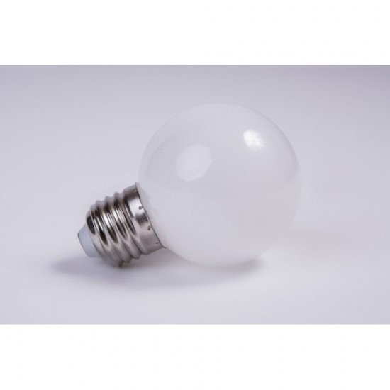 Lichterkette 10M mit 20 LED-Lampen, E27 2.4W, Schwarzes Kabel, Verbindbar 200M, für Außen