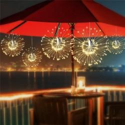 Hängend Feuerwerk Lichterkette mit 100 Mini-LEDs, Kupferdraht, Strombetrieben, Warm Licht, Für Innen