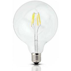 Große LED Lampe G125, E27, 4W, Glas, Dimmbar, 75lm/W, Warm Licht, für Außen