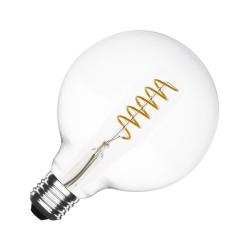 Große LED Lampe Spirale G125, E27, 4W, Glas, Dimmbar, 50lm/W, Warm Licht, für Außen