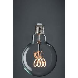 Große LED Lampe Spirale G125, E27, 4W, Glas, Dimmbar, Warm Licht, für Außen