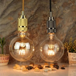 Große LED Lampe Spirale G95, E27, 4W, Glas, Dimmbar, Warm Licht, für Außen
