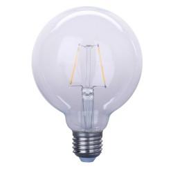 Große LED Lampe G95, E27, 2W, Kunststoff, Warm Licht, für Außen
