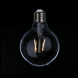 Große LED Lampe G95, E27, 1W, Kunststoff, Warm Licht, für Außen