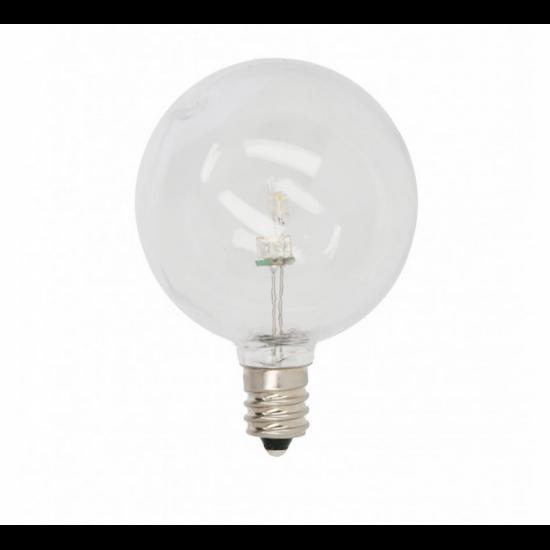 Zickzack Lichterkette 7,5M mit 25 LED-Lampen E12, 1W, Kunststoff, Dimmbar, Weißes Kabel, Verbindbar 210M, für Außen