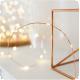 Kupferdraht Lichterkette 10M mit 100 Mini-LEDs, Foto-Clip mit 20 abnehmbaren Haken, Strombetrieben, Warm Licht