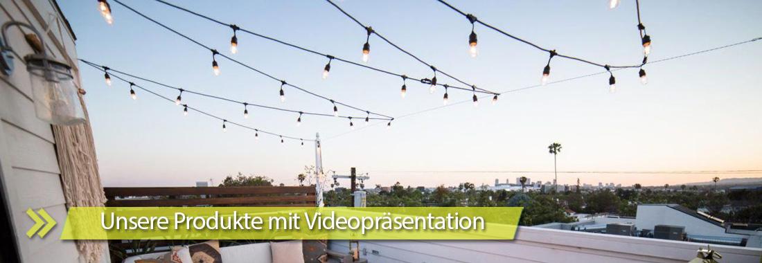 Unsere Produkte mit Videopresentation