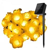 Solarlichterkette 3,5M mit 20 Rosen LEDs, Warm Licht, für Außen