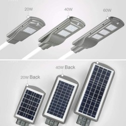 LED Solar Flutlicht mit Bewegungssensor 20W, Straßenbeleuchtung mit Kaltes Licht, für Außen