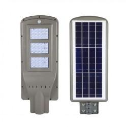 Solar Straßenbeleuchtung mit Bewegungssensor, Straßenlaterne 60W, Kaltes Licht, für Außen