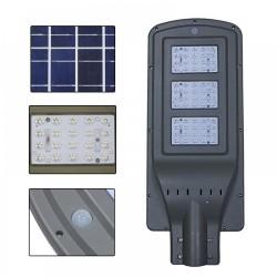 LED Solar Flutlicht mit Bewegungssensor 60W, Straßenstrahler mit Fernbedienung, Kaltes Licht, für Außen