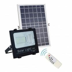 LED Solar Flutlicht 25W mit Dämmerungssensor und Fernbedienung