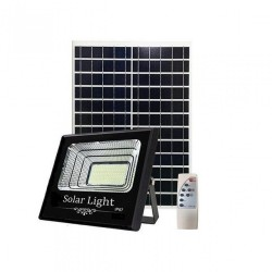 LED Solar Flutlicht 60W mit Dämmerungssensor und Fernbedienung