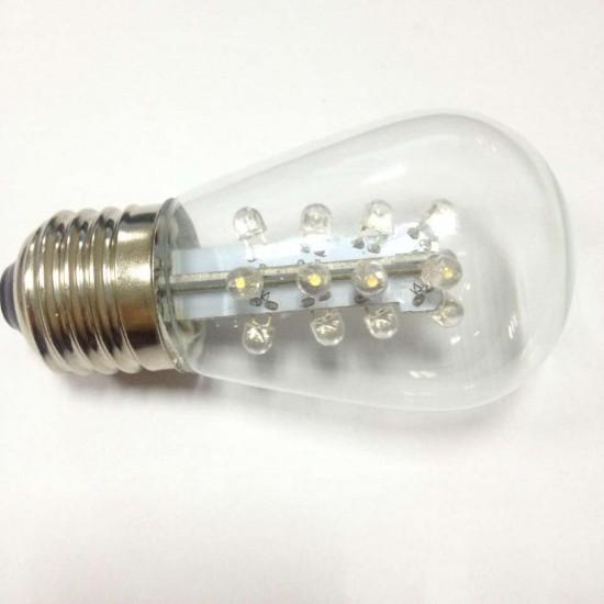 LED Lampe mit 16 LEDs, E27, 2W, Glas, Dimmbar, Warm Licht, für Außen