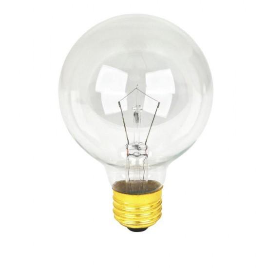 Lichterkette 15M mit 50 + 10 Geschenke Glühlampen Filament E12, 7W, Schwarzes Kabel, Verbindbar 30M, für Außen