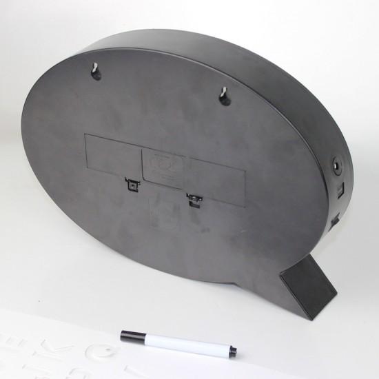 Leuchtkasten A4 mit 3 Marker, Handschrift, Lightbox Meldungsfelder (A4 Oval), Batteriebetrieben, Mikro-USB