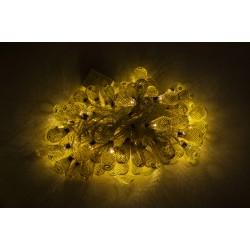Dekorative Lichterkette 10M mit 100 Golden/Silber Mini-Kugel, Durchsichtig Kabel, Warm Licht, Verbindbar 50M