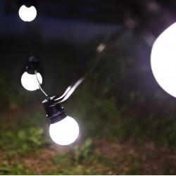 Mattweiß LED Lampe, E27, 2.4W, Kunststoff, Warm Licht, für Außen