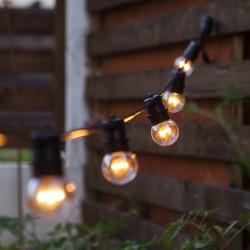 Glühlampe mit 9 LEDs, E27, 1W, Kunststoff, Dimmbar, Warm Licht, für Außen