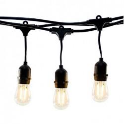 Birne mit 4 LEDs Filament, E27, 4W, Glas, Warm Licht, für Außen