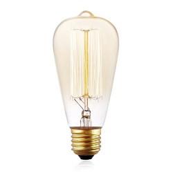 Vintage Glühlampe ST64 Filament, E27, 25W, Retro Ombre Glas, Dimmbar, Warm Licht, für Außen