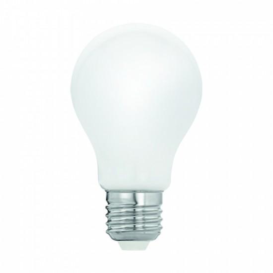 Mattweiß Birne mit 4 LEDs Filament, E27, 4W, Glas, Dimmbar, Warm Licht, für Außen